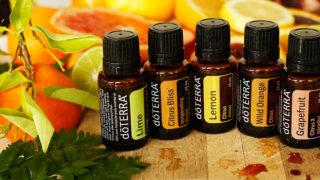 obr. Citrusové éterické oleje